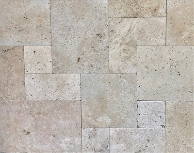 Ivory Travertine French Pattern Tiles