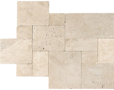 Premium Light Ivory Travertine French Pattern Tiles