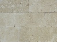 Travertine Ivory Unfilled and Tumbled pavers
