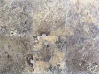 Luna Grey Filled and Honed Travertine