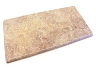 Noce Travertine Bullnose Pool Coping