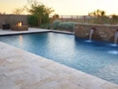 travertine pool pavers and matching coping tiles