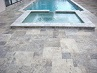 Silver Travertine Bullnose Pool Coping