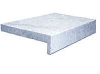 Silver Travertine Drop Face Pool Coping