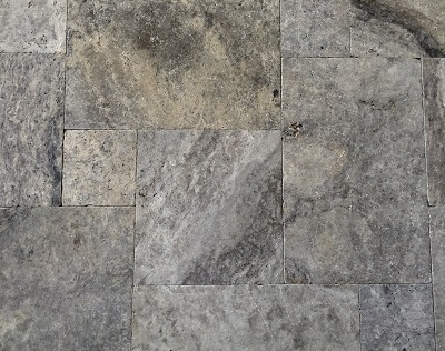 Silver Travertine French Pattern Tiles